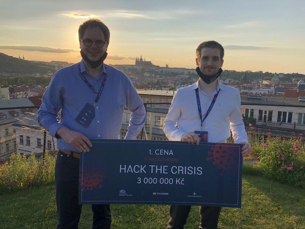 Český startup z Vestce u Prahy DIANA Biotechnologies držitel, ceny Hack the Crisis CZ. Zdroj: Diana Biotechnologies